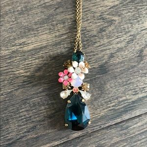 J. Crew Jewelry - J crew gold and blue necklace